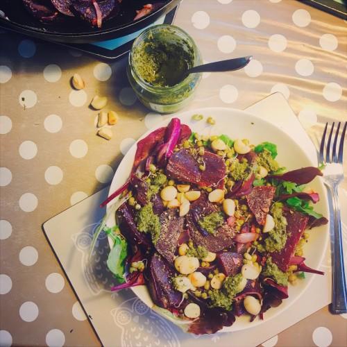 Beetroot hazlenut salad